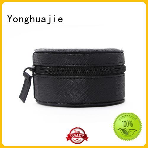 Yonghuajie high quality leather box for wedding rings