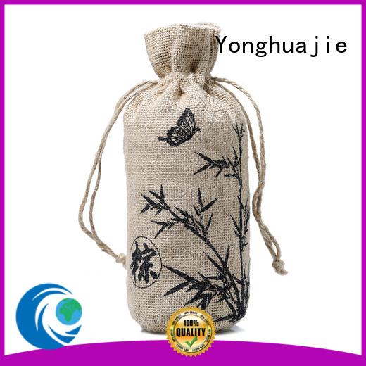handle bamboo jute sack                                                                                                                                                                                               jute shopping bag Yonghuajie Brand