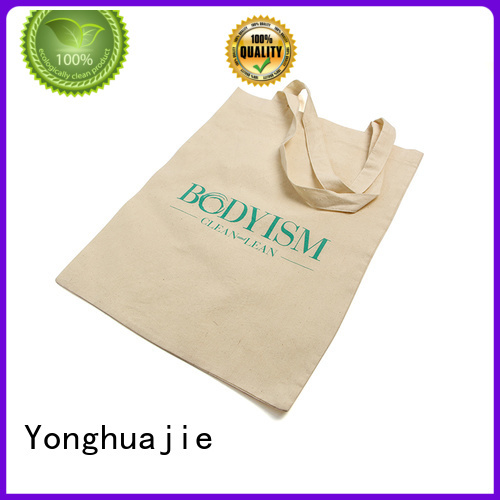 at discount cotton tote bags wholesale with drawstring for cosmetics Yonghuajie