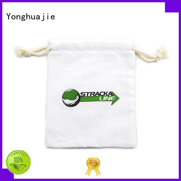 Reusable White Cotton Dawstring  Bag With Silk Printing