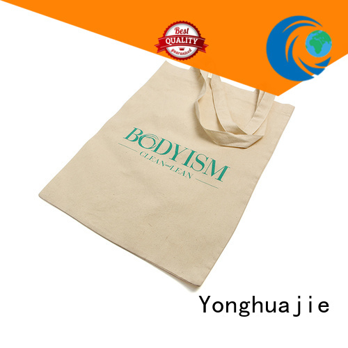 Yonghuajie white ears cotton drawstring bags with handle for packaging