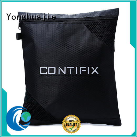 reusable polyester drawstring bag nylon tote bags with handle for shopping
