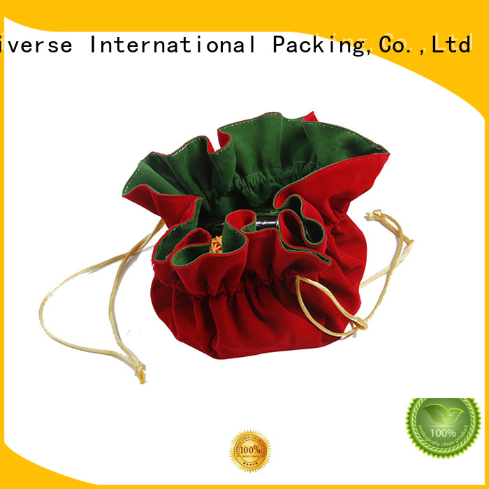 Double Layers Velvet Cosmetic Jewelry Drawstring Pouch