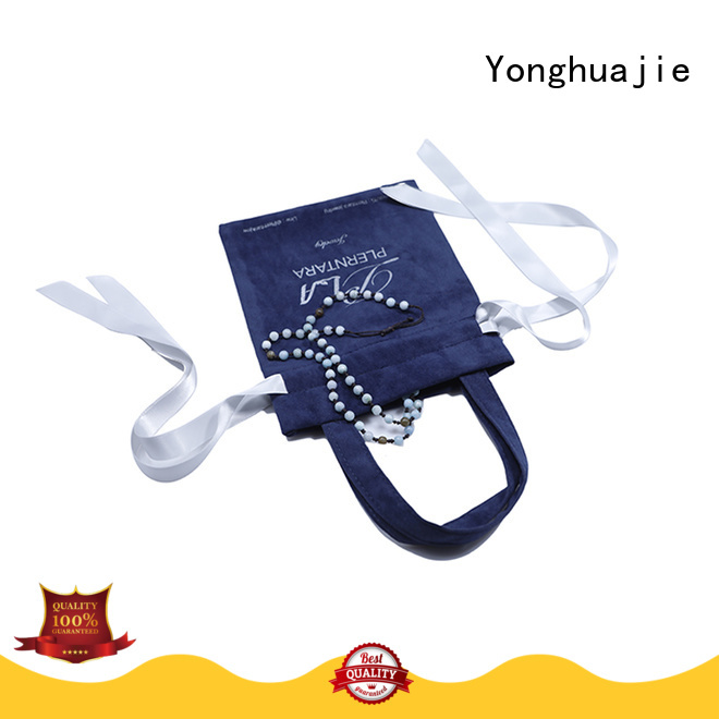 printed logo velvet jewelry bag top manufacturer for jewelry shop Yonghuajie