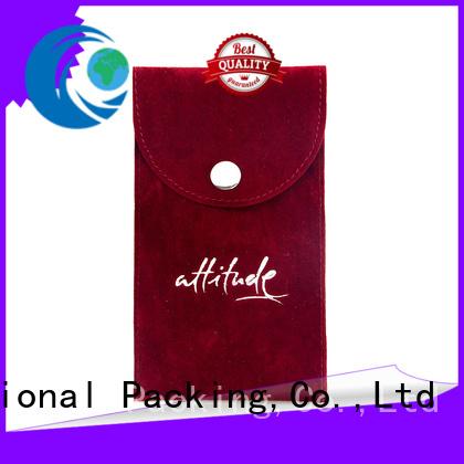 Yonghuajie plastic velvet jewelry bag printed logo for gift