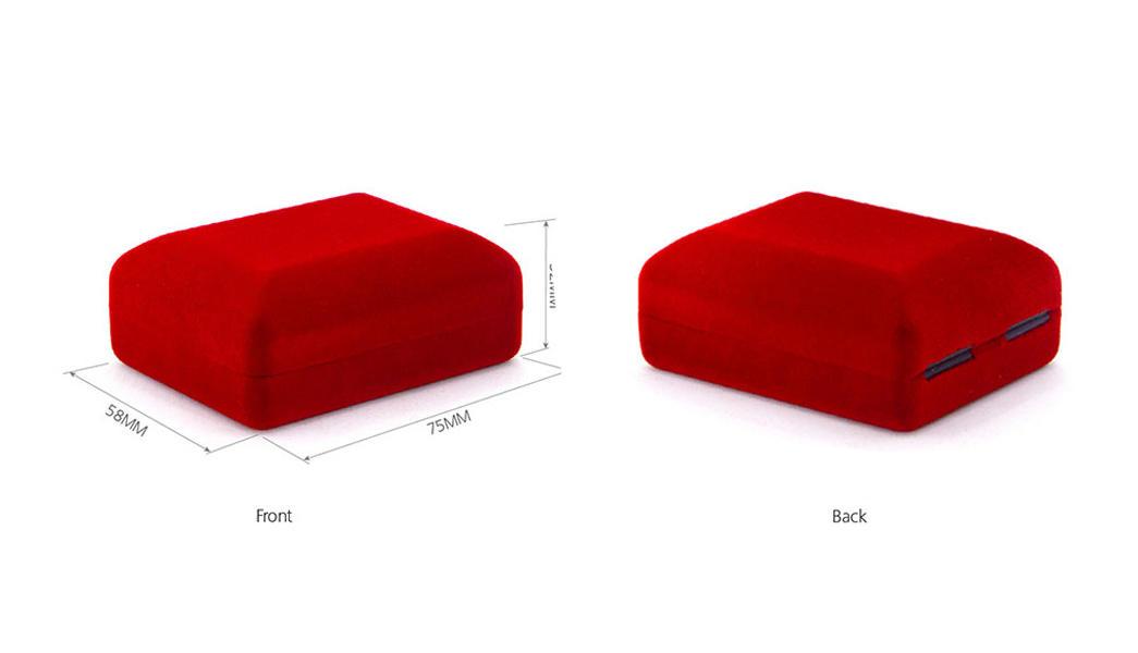 Yonghuajie red velvet necklace box free sample-1