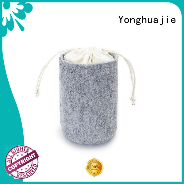 durable embroidered made Yonghuajie Brand felt tote bag manufacture