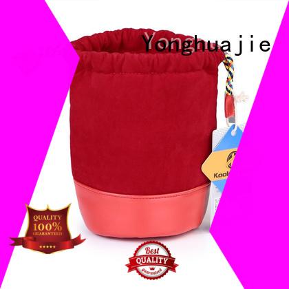 Yonghuajie printed logo velvet makeup bag cheap for packaging