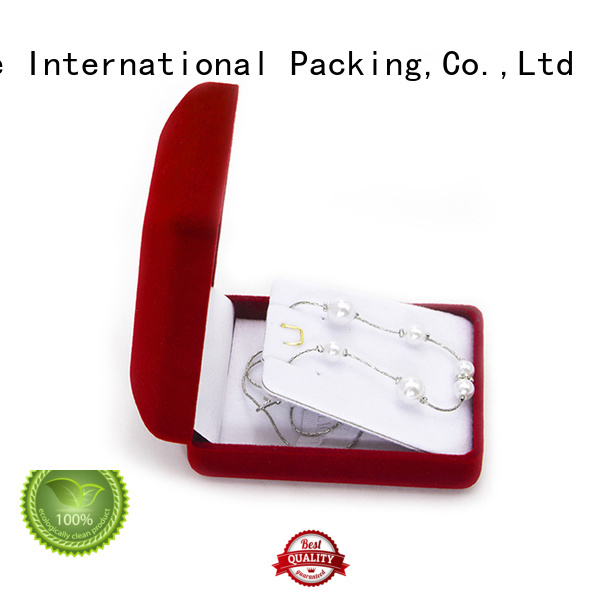Yonghuajie red velvet necklace box free sample