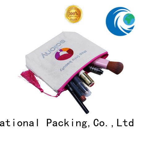 plain canvas tote bags grey canvas canvas zipper bag canvas drawstring bag, tassel for shopping Yonghuajie