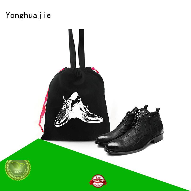 Yonghuajie natural cotton hemp shopping bags with zipper for packaging