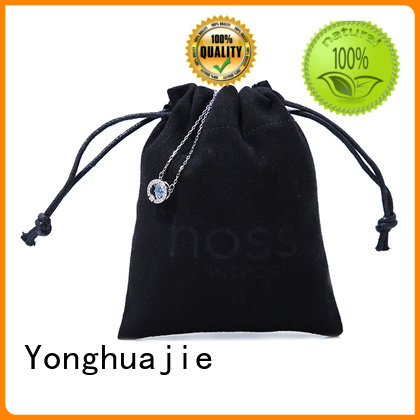 grey suede bag suede jewelry pouch suede drawstring bag customized for shopping Yonghuajie