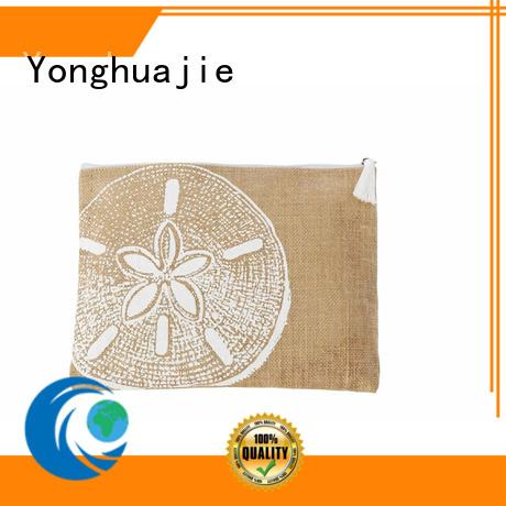 Yonghuajie drawstring jute sack jute shopping bag free sample for packing