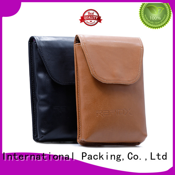 Yonghuajie odm silver makeup bag pu leather