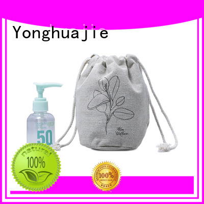 Yonghuajie coating linen pouch linen drawstring bag at discount for students