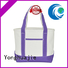 Yonghuajie printing personalized canvas tote bags pu leather for makeup