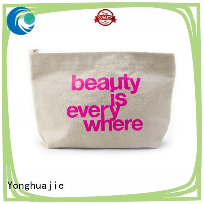 Yonghuajie Custom striped canvas tote bag window for makeup