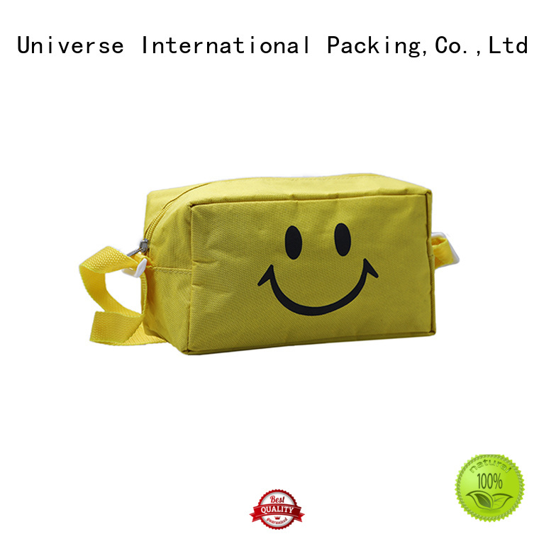 Custom Yellow Zipper Polyester Bag With tote