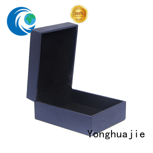 Yonghuajie odm leather cufflink box high quality for necklace
