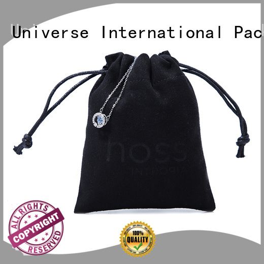 Yonghuajie wholesale grey suede bag suede jewelry pouch suede drawstring bag highly-rated for present