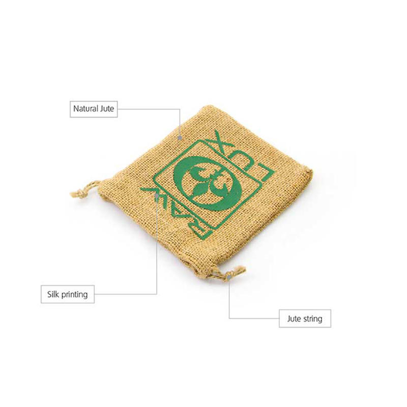 printed jute bags bamboo handle for packing Yonghuajie-2