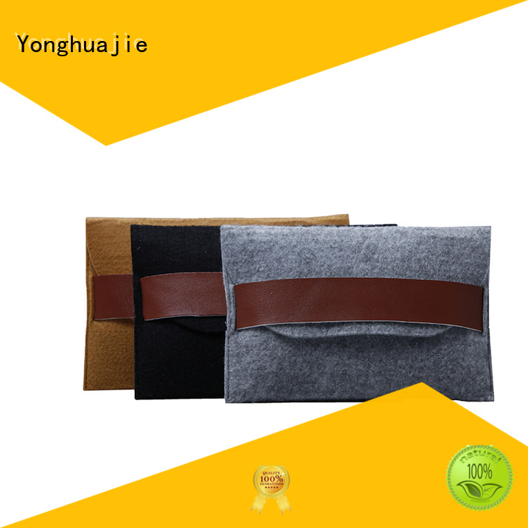 Yonghuajie embroidered felt purse for sale