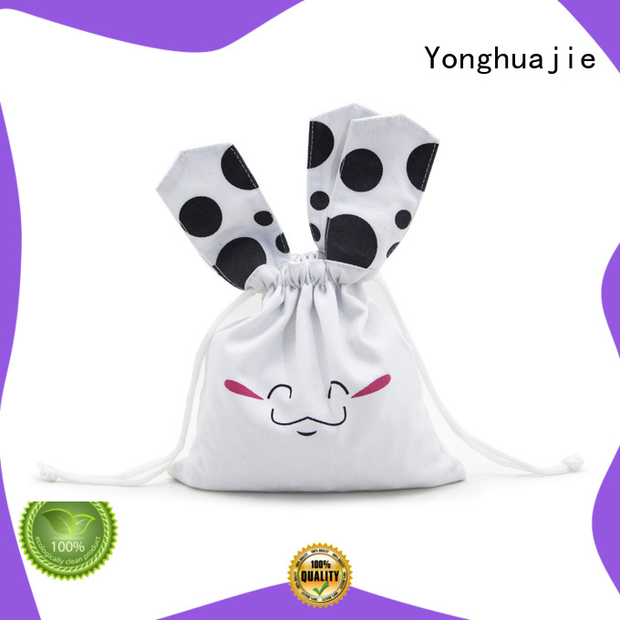 digital cotton gift bag with handle for shopping