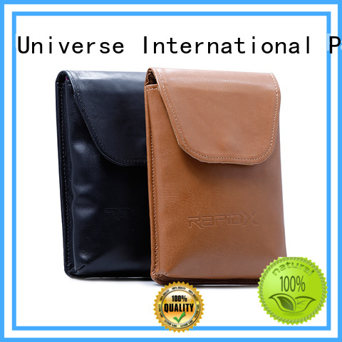 PU leather bag with flap and button closure embossing logo