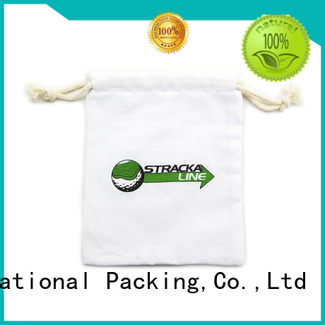 drawstring cotton drawstring bags with zipper for storage