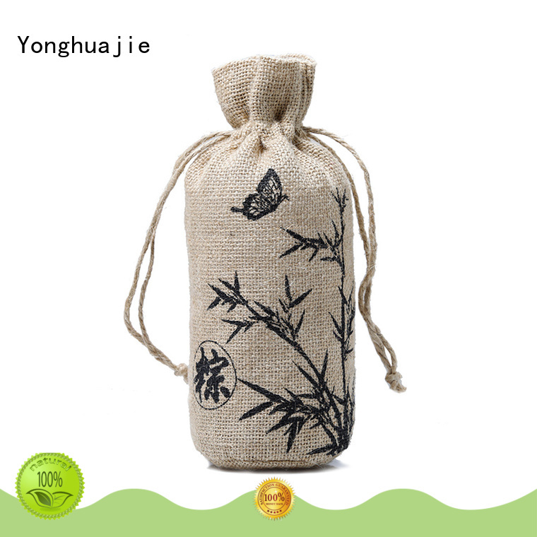 Yonghuajie new arrival small jute tote for wholesale for wine
