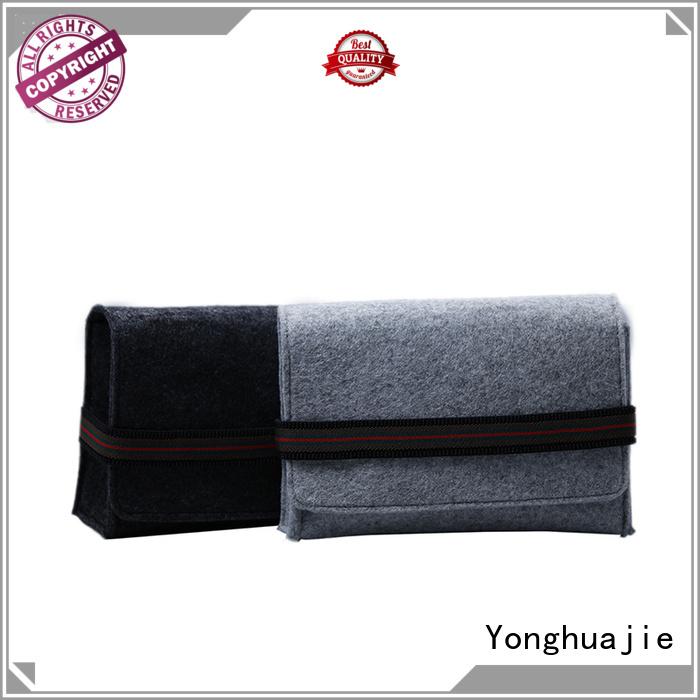 Custom Felt bag for moilbe phone and power bank packaging with elastic