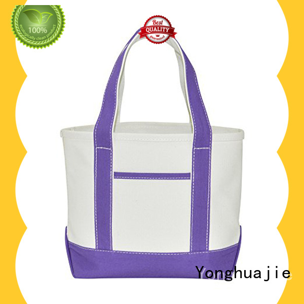Yonghuajie custom size canvas tote bags with zipper glitter for jewelry