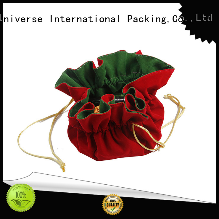 printed logo velvet jewellery pouches cheap for packaging Yonghuajie
