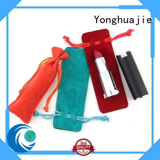 Yonghuajie design velvet pouch at discount for packing
