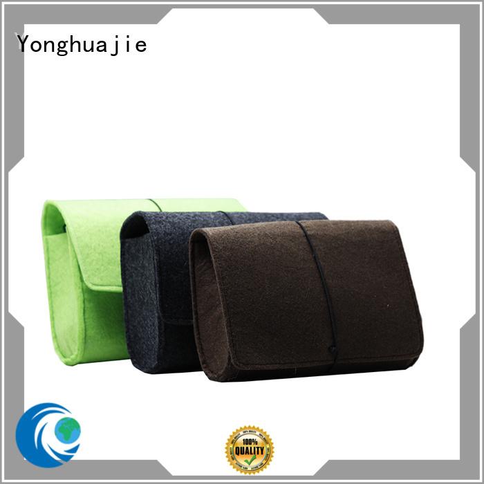 Yonghuajie custom made felt purse for storage