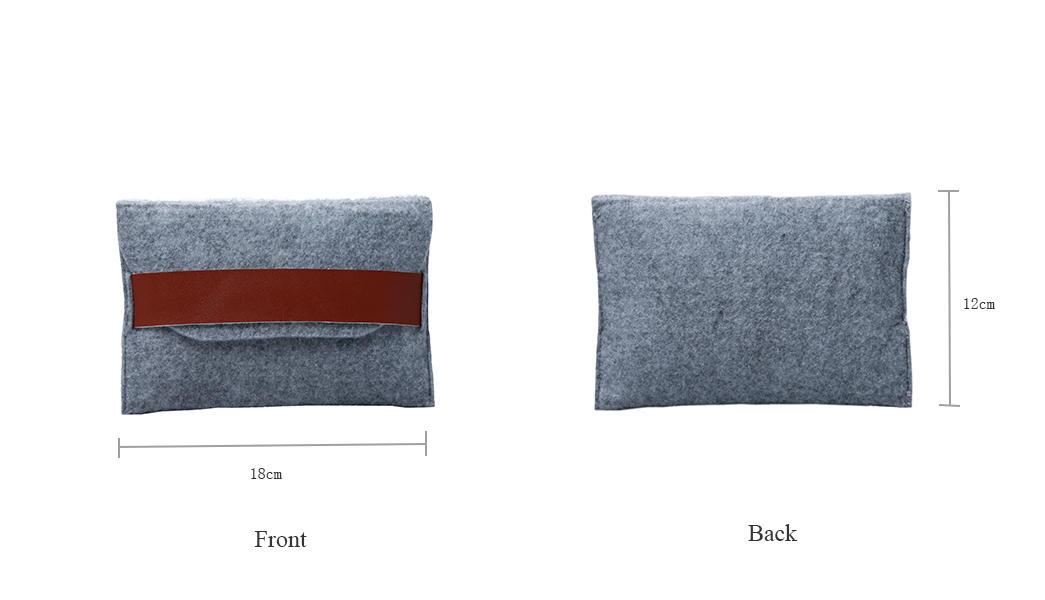 Custom Grey Felt Bag for power bank packing-1