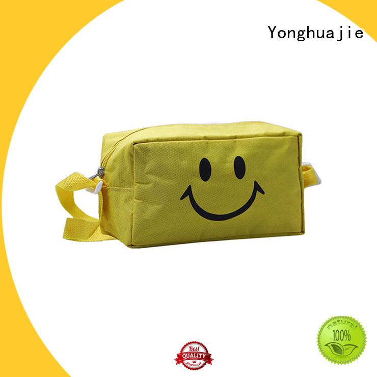 silk printing nylon drawstring bag with drawstring for storage