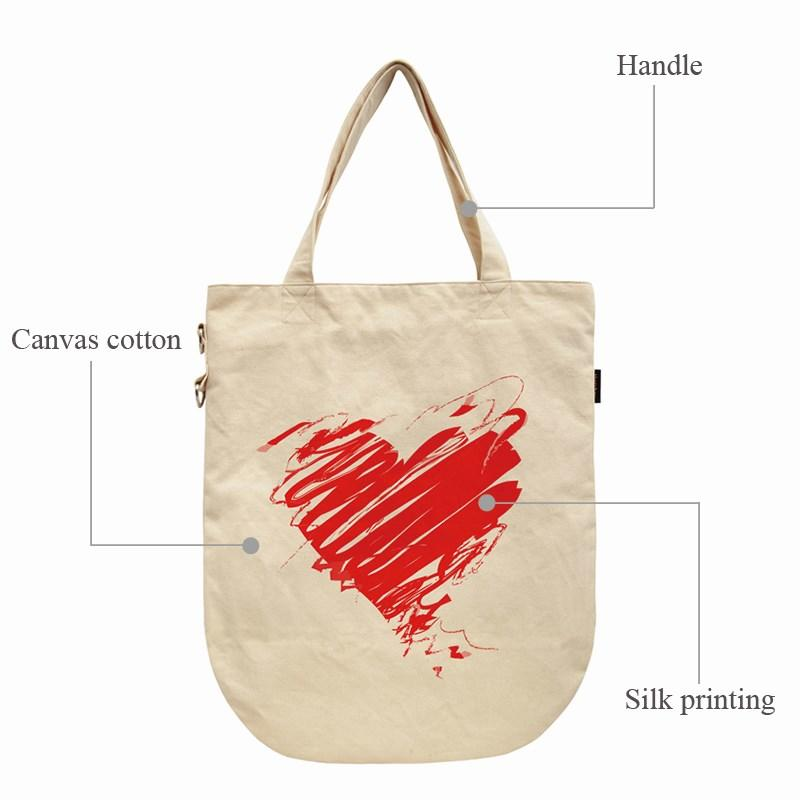 Yonghuajie order blank canvas bags canvas cosmetic bag pu leather for shopping-2