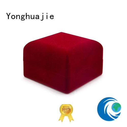 oem velvet jewelry gift boxes free sample Yonghuajie