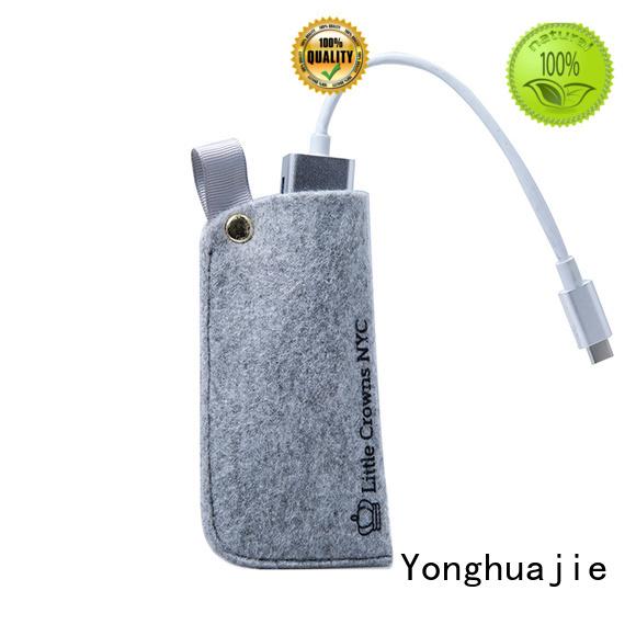 felt pouch felt storage bag felt shopping bag felt jewelry bag custom made Yonghuajie