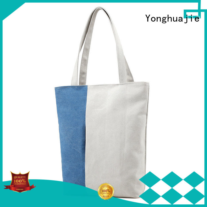 Yonghuajie best design plain canvas tote bags grey canvas canvas zipper bag canvas drawstring bag, cotton for shopping