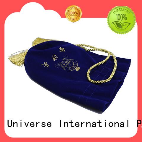 Yonghuajie design velvet makeup bag purple for jewelry store