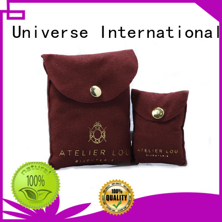 ring suede packaging OEM grey suede bag                                                                                                                                                                 suede jewelry pouch
