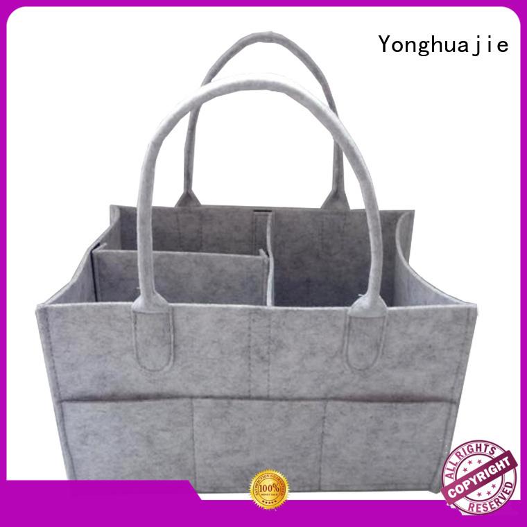 Yonghuajie embroidered felt organizer Supply for storage