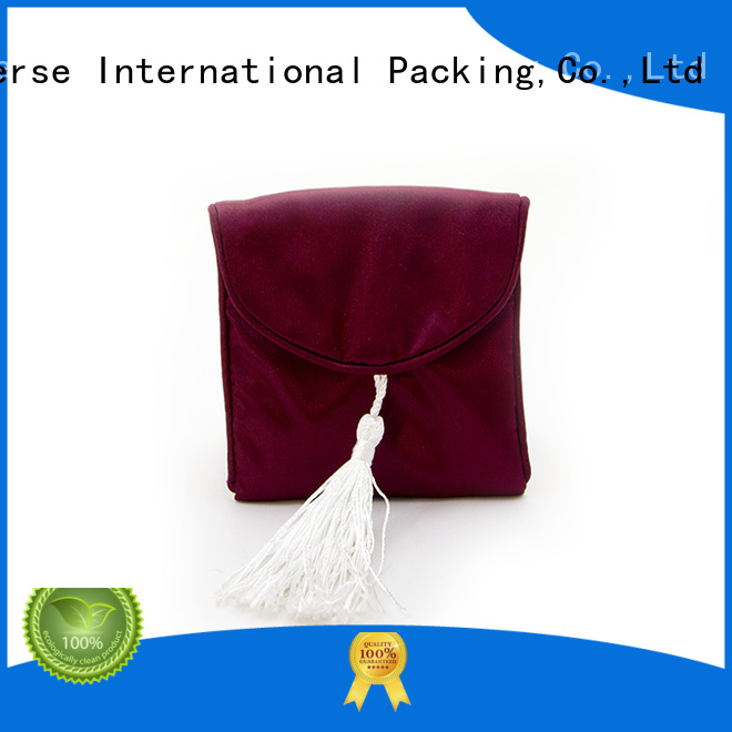 Latest satin drawstring bags soft with drawstring for storage
