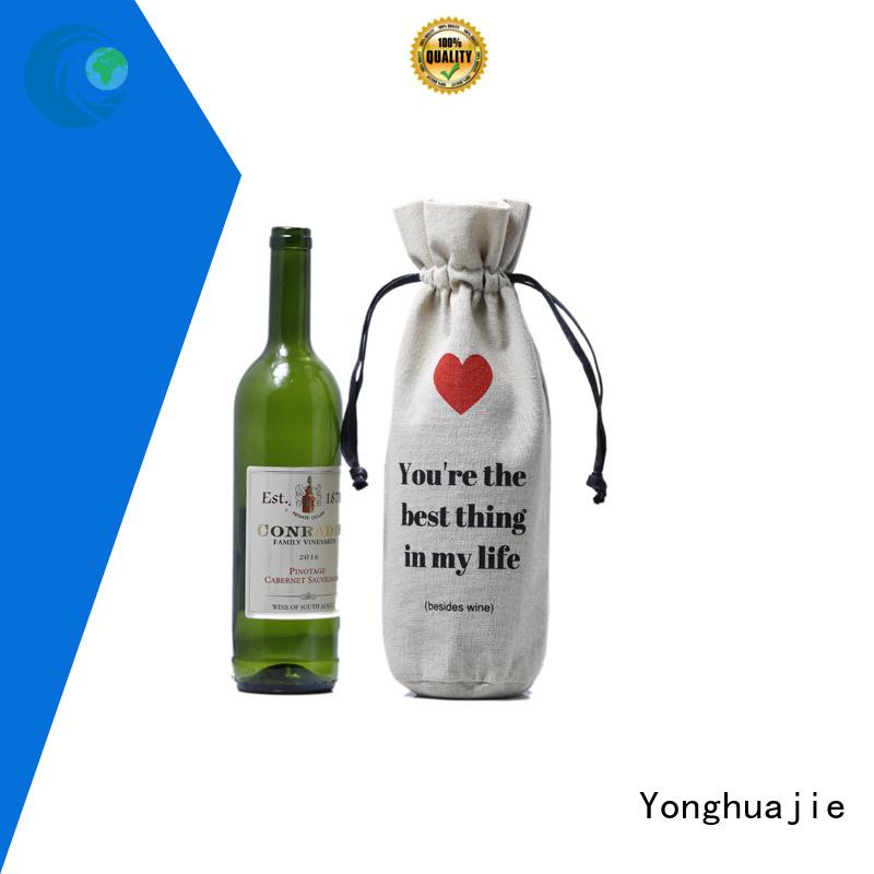 Yonghuajie Brand natural bag drawstring linen pouch                                                                                                                                                                                               linen drawstr