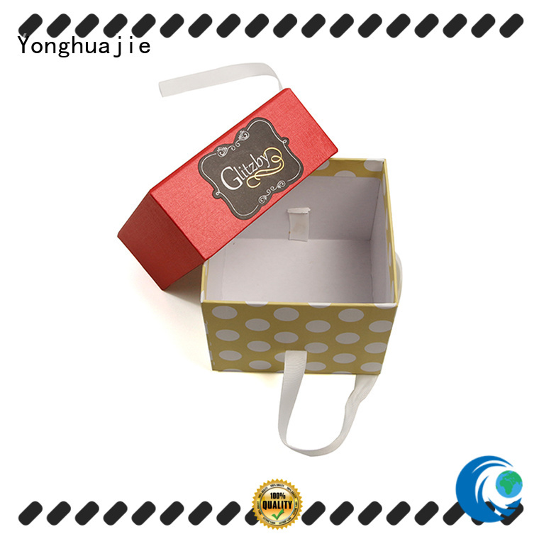 thick custom paper box at discount for jewelry shop Yonghuajie