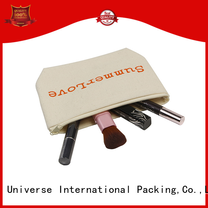 Yonghuajie custom size canvas leather bag glitter for cosmetic