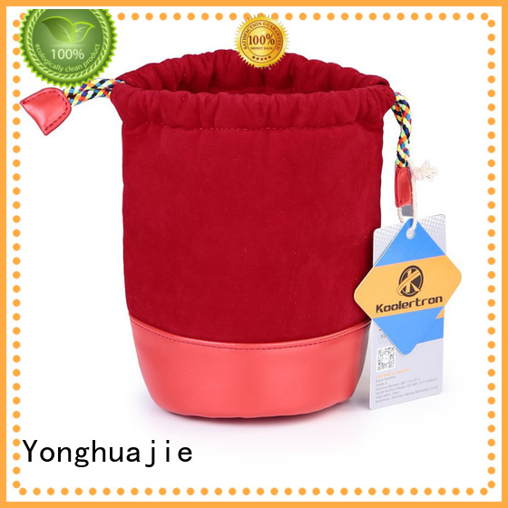 round velvet makeup bag at discount for gift