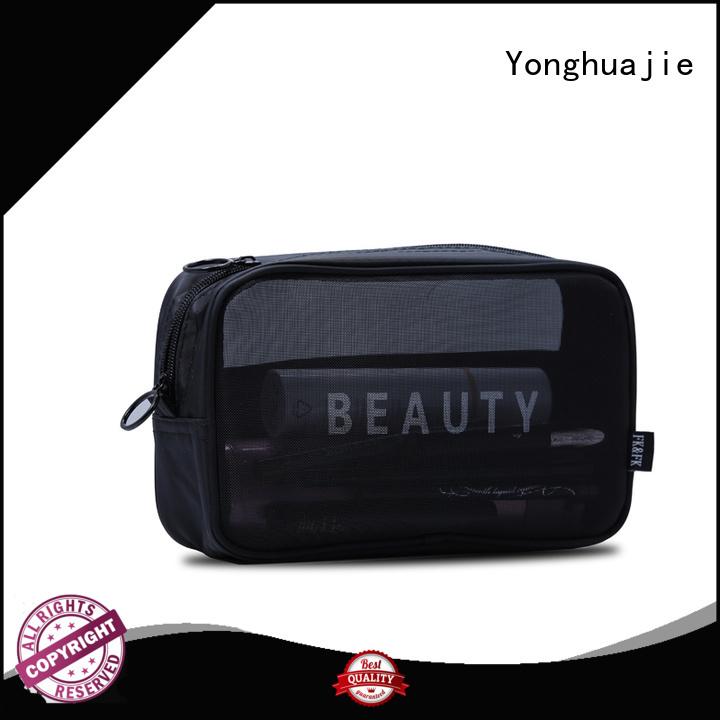 Custom Nylon Mesh Zipper Toiletry Cosmetic Bag with Logo
